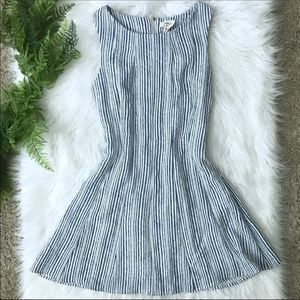 [Everly] Blue and White Striped Lightweight Dress